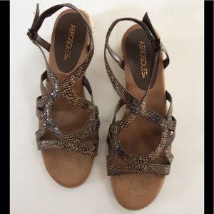 Aerosoles snake skin pattern sandals. Size 9.5 EUC